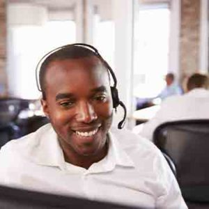 Customer Service Representative using VoIP product